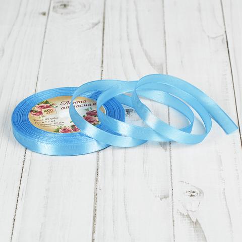 Лента атласная светло-голубая 10мм