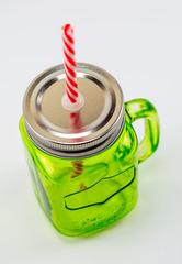 Баночка для смузи и коктейлей, зеленая, фото 1