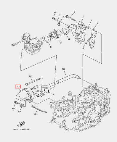 Глушитель для лодочного мотора F20 Sea-PRO (6-10)