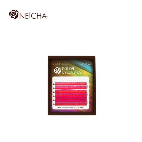 Ресницы NEICHA нейша цветные 6 линий MIX малиновый