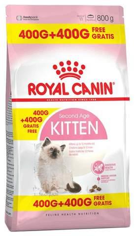Royal Canin Kitten для котят от 4 до 12 месяцев 400+400 г.
