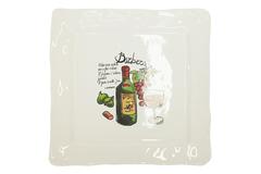 "NEW WINES Square platter  (mod. SQ281 ) | Тарелка обеденная квадратная""ВИНА"" — рисунок 3 Barbera"
