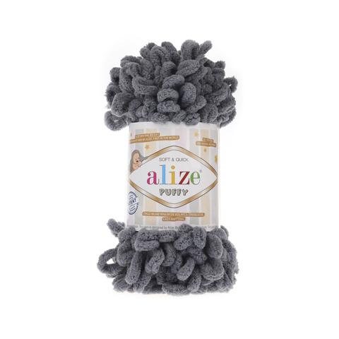 Купить Пряжа Alize Puffy Код цвета 087 Темно-серый | Интернет-магазин пряжи «Пряха»