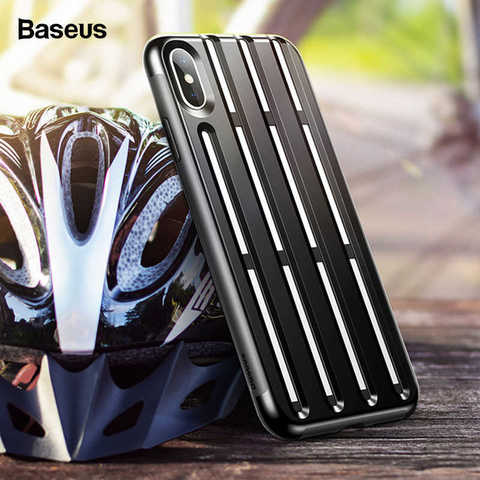 Чехол iPhone XS Max Baseus Cycling Helmet Case /black/