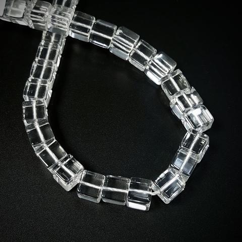 Бусины горный хрусталь Куб 8х8 мм прозрачный 1 бусина