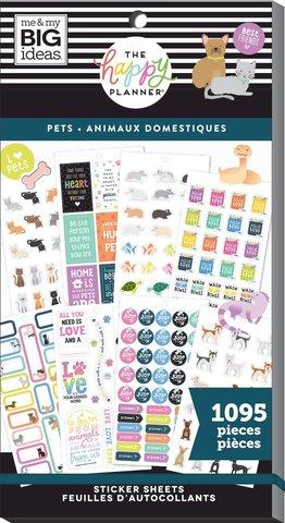 Блокнот со стикерами для ежедневника Create 365 Happy Planner Sticker Value Pack-BIG pets - 1095 шт