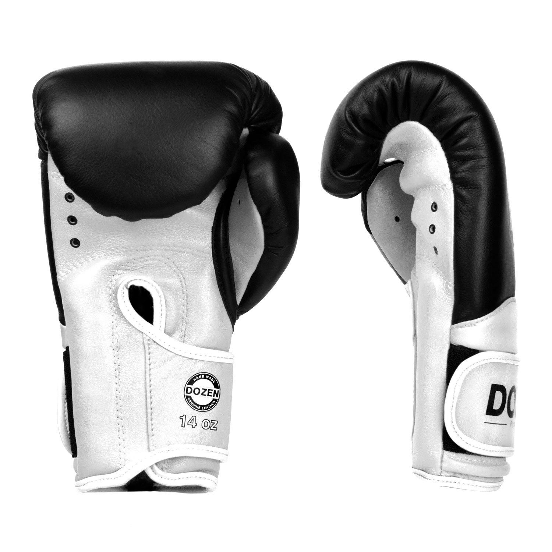 Перчатки Dozen Dual Impact Black/White доворот и ладонь