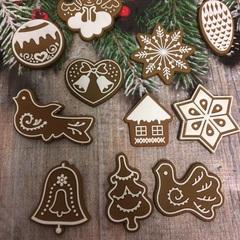 Молд « Новогоднее печенье Птичка»