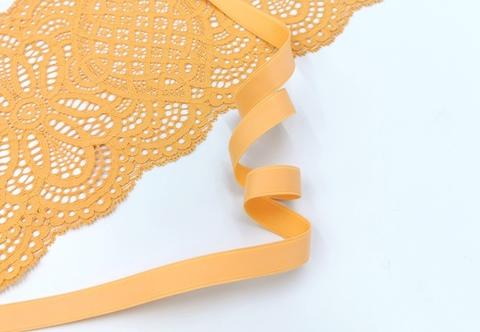 Бретелечная резинка без фестонов, 15 мм, тыквенный, (Артикул BR640/15-1484), м