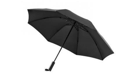 Зонт с светодиодным фонариком Xiaomi 90 Points Automatic Umbrella With LED Flashlight черный