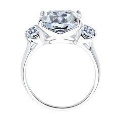 94012077 - Кольцо  из серебра с квадратным фианитом бриллиантовой огранки