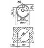 Мойка кухонная TEKA Centroval 45-TG - схема