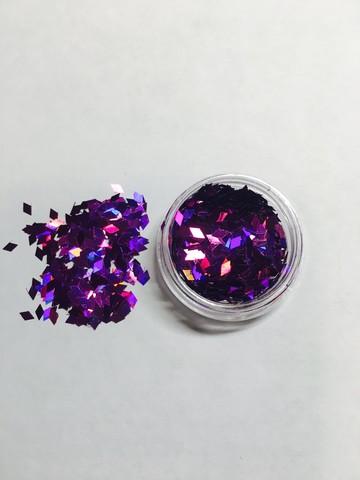 Ромбики для дизайна ногтей/ фиолетовый цвет купить за 80руб