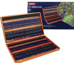 Набор из 72 акварельных карандашей Derwent Inktense в деревянной коробке