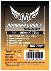 Протекторы для настольных игр Mayday Sails of Glory (50x75) - 100 штук
