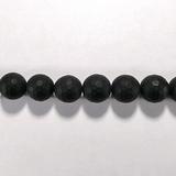 Бусина из оникса черного матового, фигурная, 12 мм (шар, граненая)