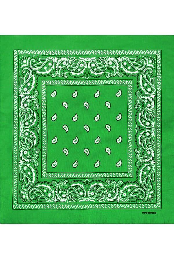 Светло-зеленая бандана фото