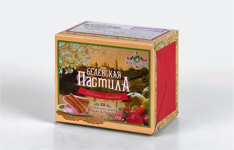 Белевская пастила яблочная (с клубникой) 175 г