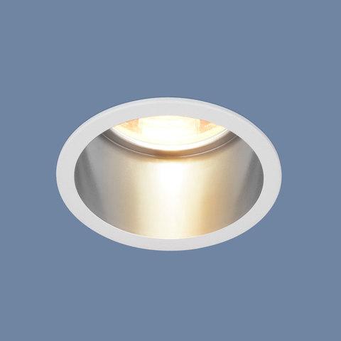 Встраиваемый точечный светильник 7004 MR16 WH/SL белый/серебро