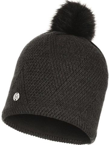 Шапка вязаная с флисом Buff Hat Knitted Polar Disa Black фото 1
