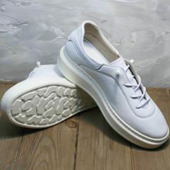 Белые женские кеды кроссовки на белой подошве Rozen M-520 All White.