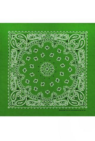 Светло-зеленая бандана женская фото