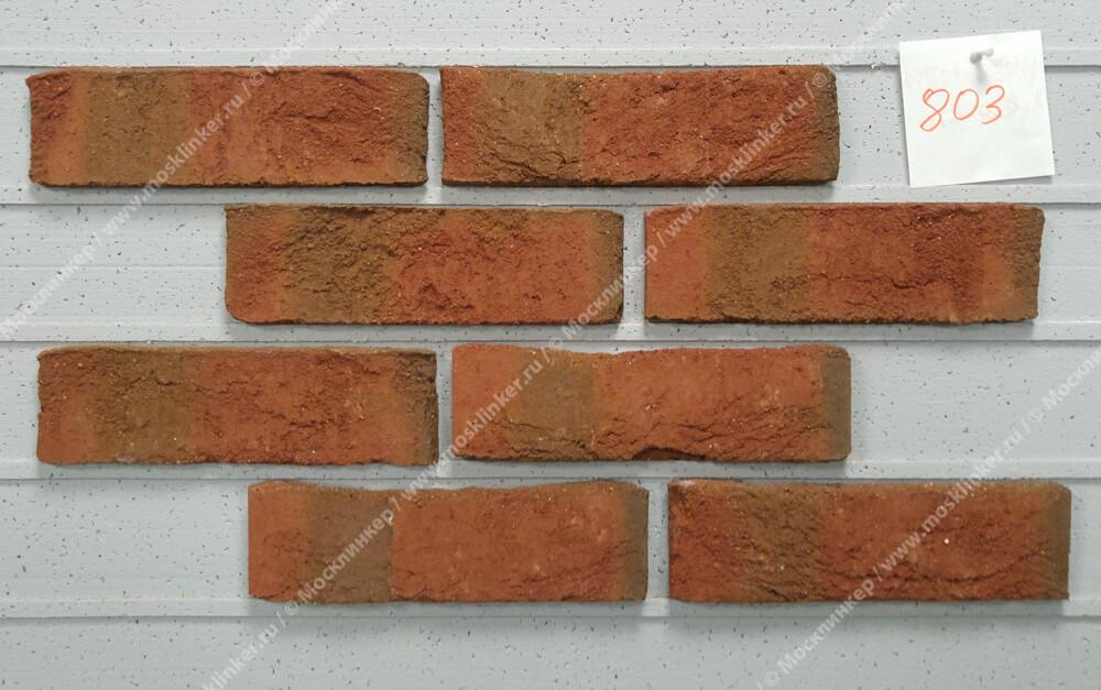 Roben - Wasserstrich, hellrot bunt, NF14, 240x14x71 - Клинкерная плитка для фасада и внутренней отделки