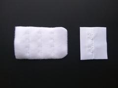 Застежка с крючками белая 2 ряда