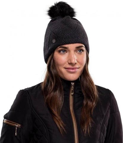 Шапка вязаная с флисом Buff Hat Knitted Polar Disa Black фото 2