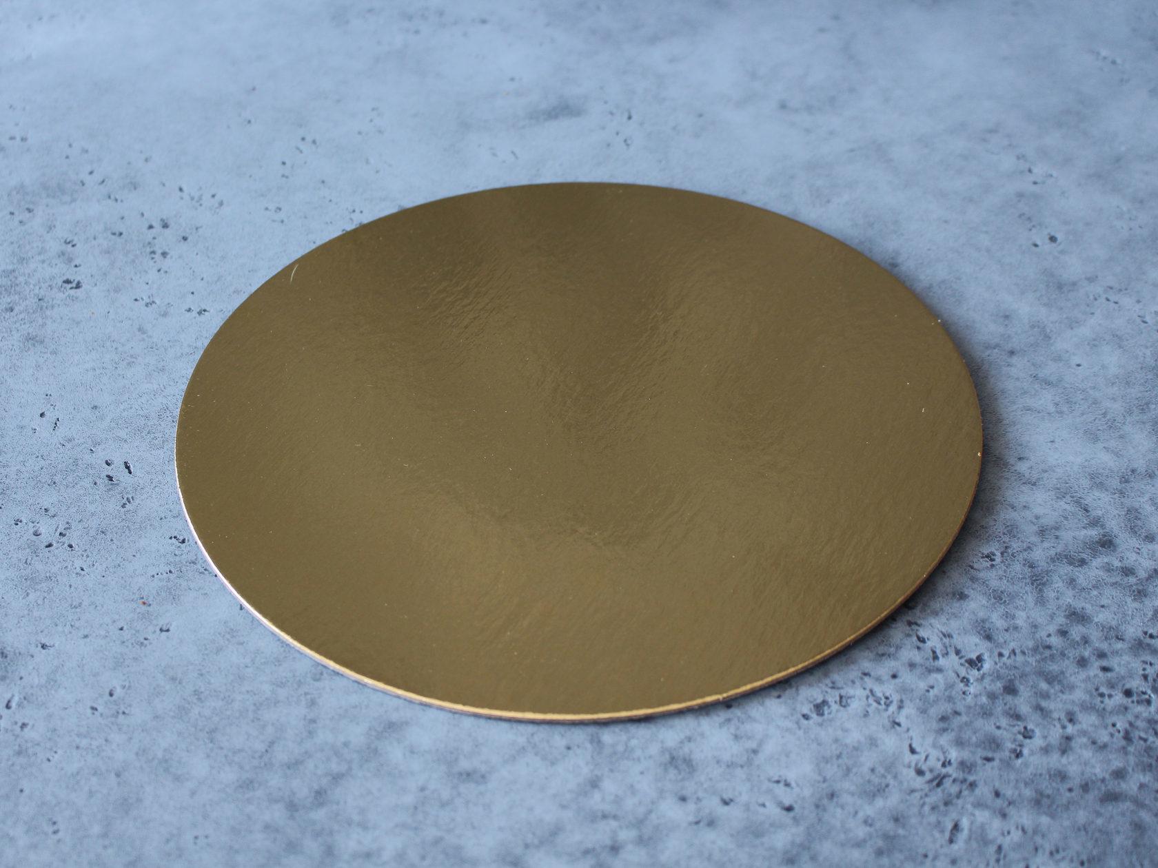 Подложка белая/золотая 28 см, 3,2 мм