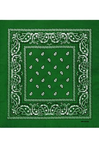 Зеленая мужская бандана фото