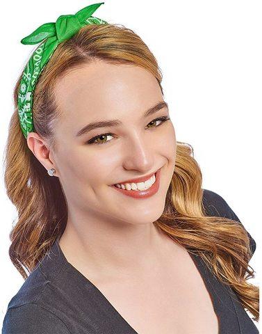 Светло-зеленая бандана на голову фото
