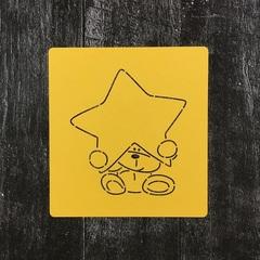 Мишка Тедди №24 со звездой