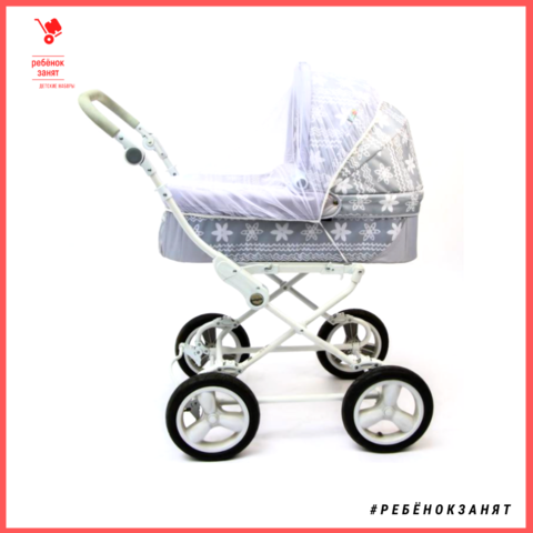Универсальная москитная сетка для детской коляски, на резинке