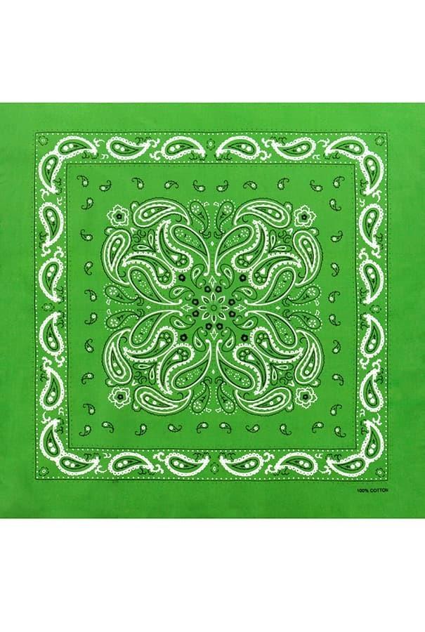 Зеленая женская бандана фото