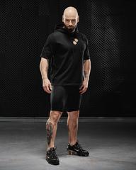 Мужская футболка с капюшоном Olimp hoodie T-shirt Gold Series Black