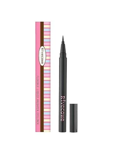 Подводка для глаз Rivecowe Flexible Liquid Brush Pen Eyeliner черный водостойкий лайнер 0,55 гр