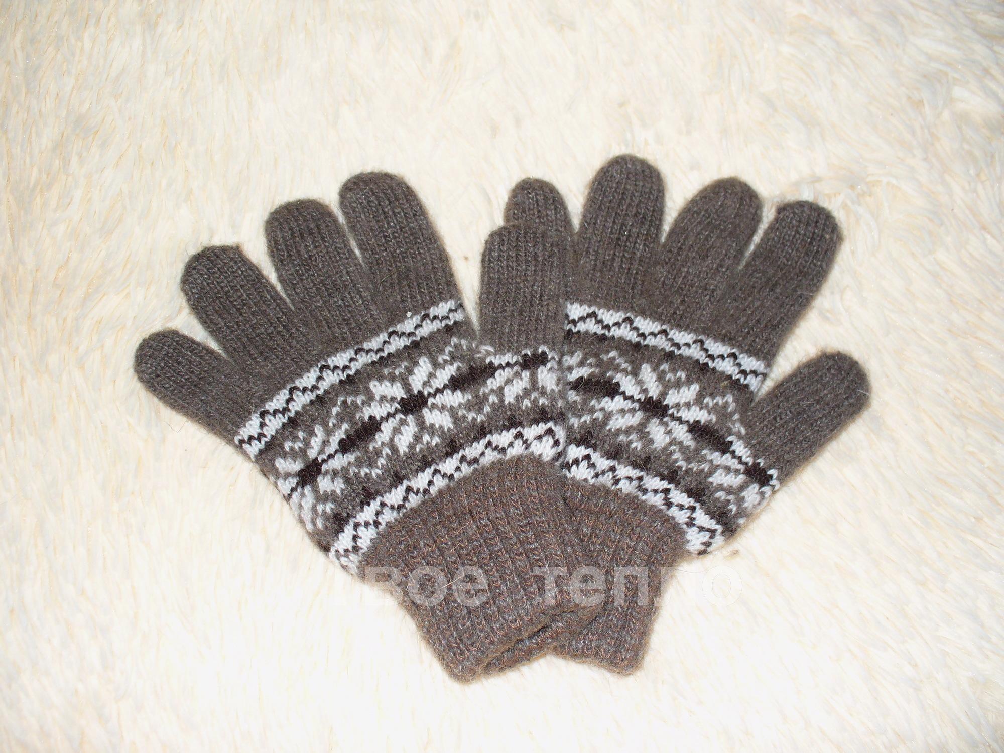 Перчатки шерстяные подростковые