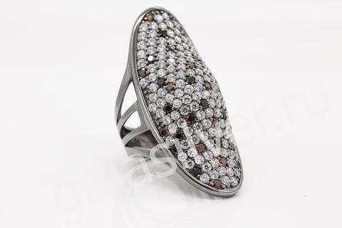 Кольцо с цирконом из серебра 925
