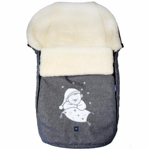 №S77 Exlusive Bear  melange fabric (серый)