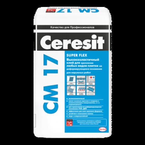 Плиточный клей Церезит СМ 17 White 25 кг