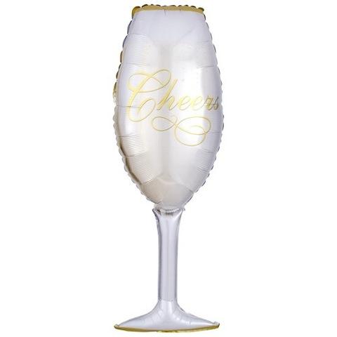 Шар фигура Бокал, Сверкающее Шампанское 99 см