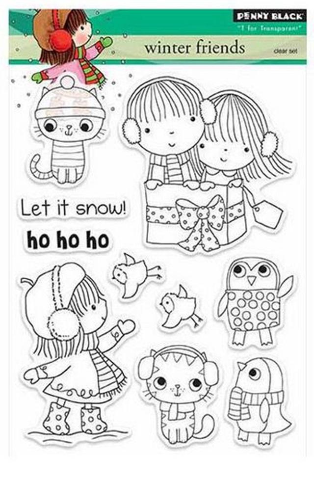 Набор штампов winter friends