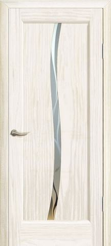 Дверь Новая волна Z стекло белое (ясень белый жемчуг, остекленная шпонированная), фабрика Океан