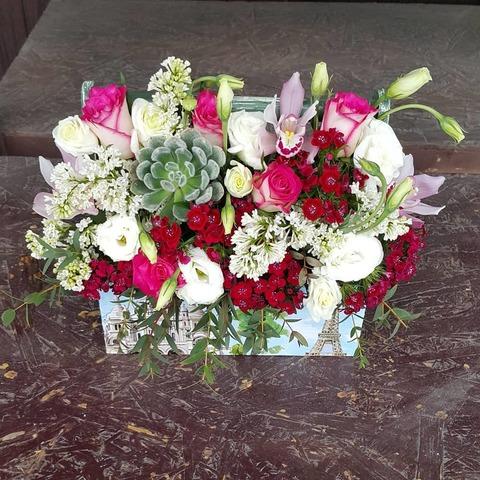 Ящик с цветами Весенний 13
