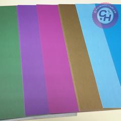 Картон цветной, мелованный, А4,170г/м.