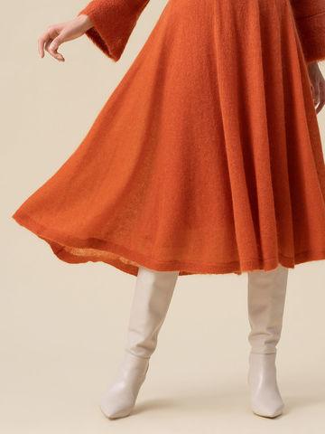 Женская юбка терракотового цвета - фото 3
