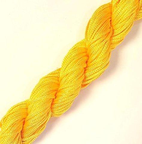 Шнур для плетения (нейлон) 1.0 мм желтый