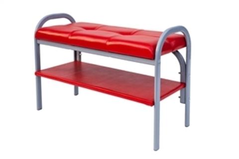Скамейка с полкой для обуви Практик-7 (Пр-7/Красный)