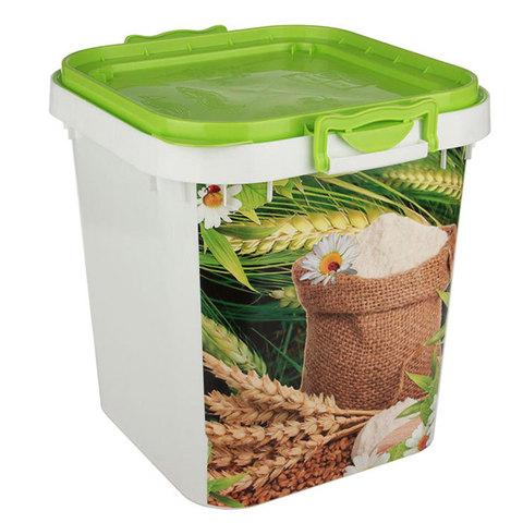 Ёмкость д/муки/сахара Альтернатива 25л пластик